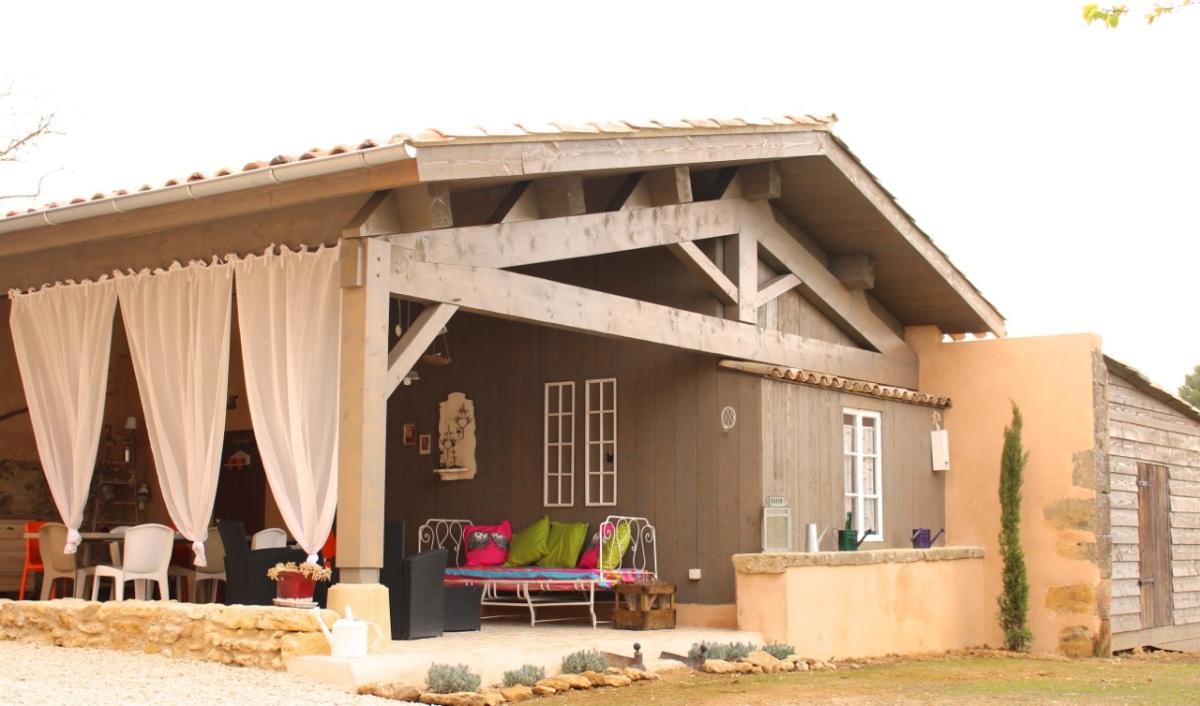 Terrasse couverte la bastide de fanny - Photo maison avec terrasse couverte ...