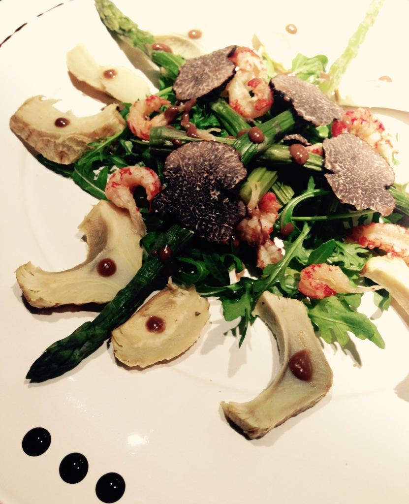 Salade à la truffe